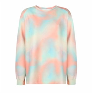 Ryder Act  Gradient Color Oversize Sweatshirt
