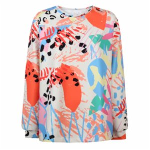 Ryder Act  Patterned Colorful Oversize Sweatshirt