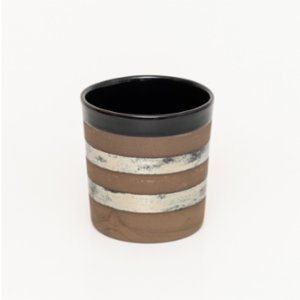 Atölye SIR  Black And Silver Stripe Mug