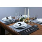 Gorgons Aegina Felt Placemat Set with Leather Detail