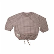 Auntie Me  Fawn Irregular Checked Sweatshirt
