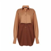 The Jacquelyns  TJ Two in One Camel Shirt