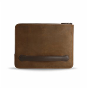 Bustha  Earth C Zip Folio Crazy Horse Leather Folio Bag for Macbook 13''