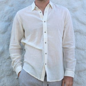Seawashed Fabrics  Podos Collar Shirt