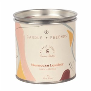 Candle and Friends  No.5 Moroccan Leather Tin Candle
