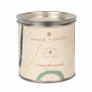 Candle and Friends  No.4 White Patchouli Tin Candle