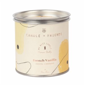 Candle and Friends  French Vanilla Tin Candle