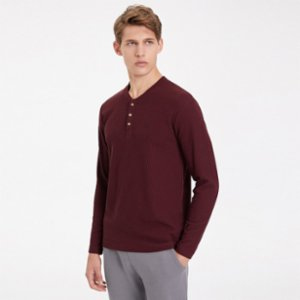 Westmark London  Essentials Long Sleeve Henley T-shirt