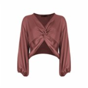 Rivus  Azalea Two Way Twist Satin Top