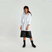 Fok  Oversized Women Shirt With Pocket