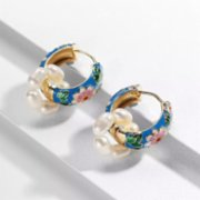 Maira Jewelry  Blue Hoop Earrings