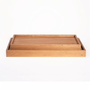 Ananas Woodworking  Edge Oak Tray Set