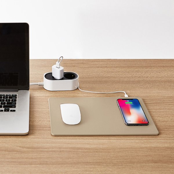 Pout Hands 3 Latte Wireless Charger Mouse Pad