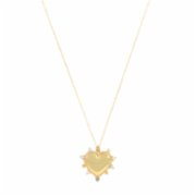 Felizist  Pippa Thin Pearl Heart Necklace