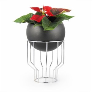 Coho Objet	  Tarz Maxi Flower Pot with Chrome Stand