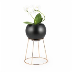 Coho Objet	  Zarif Flower Pot with Copper Stand