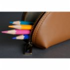 Bustha Earth C Zip Pen L Zipper Leather Pencil Case