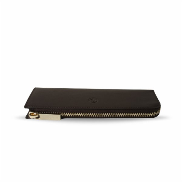 Bustha Earth C Zip Pen Flat Zipper Leather Pencil Case