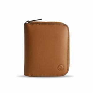 Bustha  Earth/C 'Zip' S Leather Card Holder - Saddle