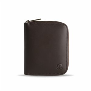 Bustha  Earth/C 'Zip' S Leather Card Holder - Mocha