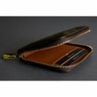 Bustha Earth/C 'Zip' S Suede Card Holder - 'Dark Khaki - Mocha'