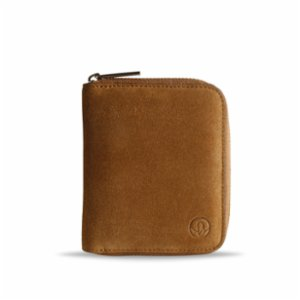 Bustha  Earth/C 'Zip' S Suede Card Holder - 'Mustard - Saddle'