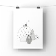 paperwork.istanbul	  Bear In The Hills Art Print