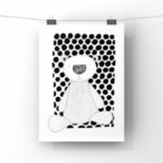 paperwork.istanbul  Dots And The Bear Art Print