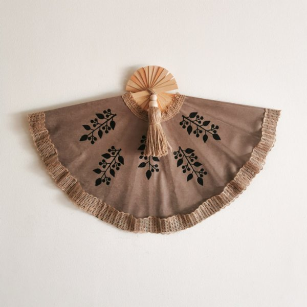 Macramulier Woodblock Print Wall Fan
