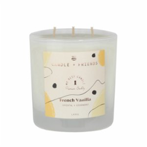 Candle and Friends  No.1 French Vanilla Three Wick Glass Candle