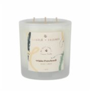 Candle and Friends  No.4 White Patchouli Glass Candle with Three Wick