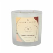 Candle and Friends  No.5 Moroccan Leather Double Wick Glass Candle
