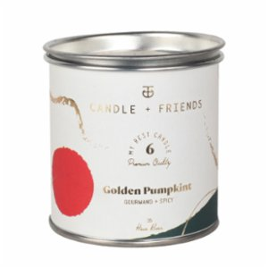 Candle and Friends  No.6 Golden Pumpkint Tin Candle