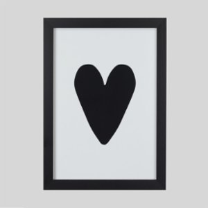 Baluna  Love Black Wall Frame
