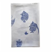 Moiratelier  A Blue Fish Story Tablecloth
