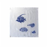Moiratelier  A Blue Fish Story Napkin - III