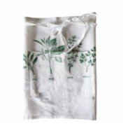 Moiratelier  Healing Herbs Kitchen Apron