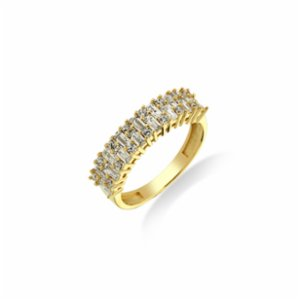 Larissa Jewellery  Orville Thick Baguette Gold Ring