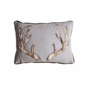 Table and Sofa  Deer Horn Applique Cushion I
