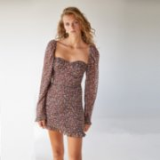 Urban Muse  Floral Heartneck Mini Dress