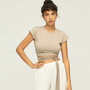 Ayma Active  Draped Back Blouse