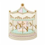 Cheerlabs  Merry Christmas Greeting Card with Music - Carousel