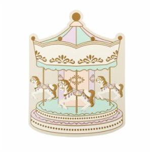 Cheerlabs  Happy Birthday Greeting Card With Music - Carousel