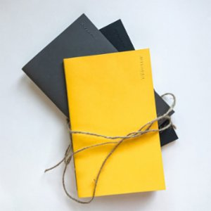 Paper Mountain  Set of 3 The Naked Midi Notebook