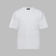 First Of All   White Basic T-shirt