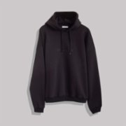 Not Enough Color  Black Hoodie With Embroidery Detail