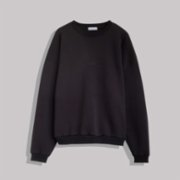 Not Enough Color  Black Sweatshirt With Embroidery Detail