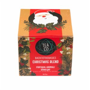 Tea Co.  Christmas Blend Tea Bag Box Orange And Cinnamon Black Tea