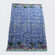 Mardi Matin  Palms and Beach Party Baby Quilt