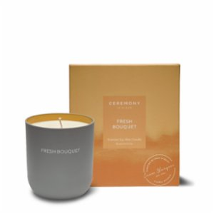 Ceremony In Bloom  Fresh Bouquet Scented Soy Candle